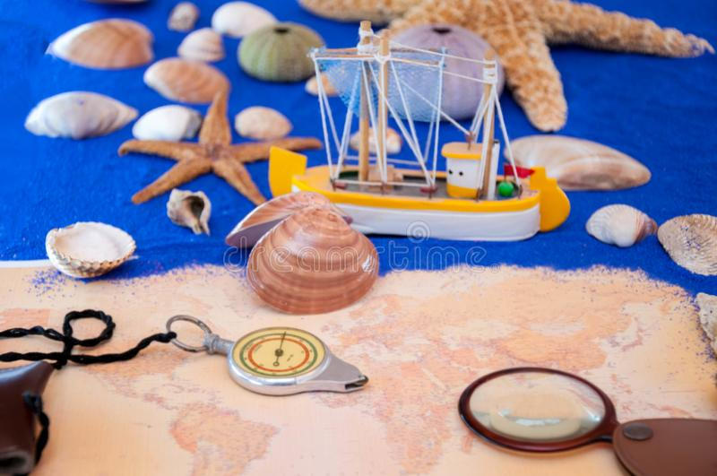 Sea shells and starfish. Seashell, Star Shape stock photos