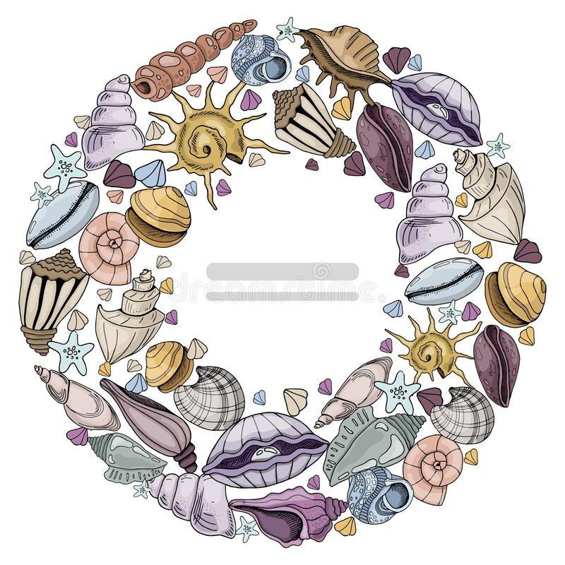 Sea Shells Vector stock illustration