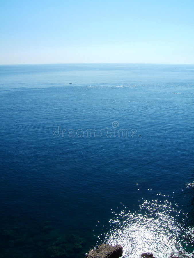 Sea from the shore royalty free stock photography