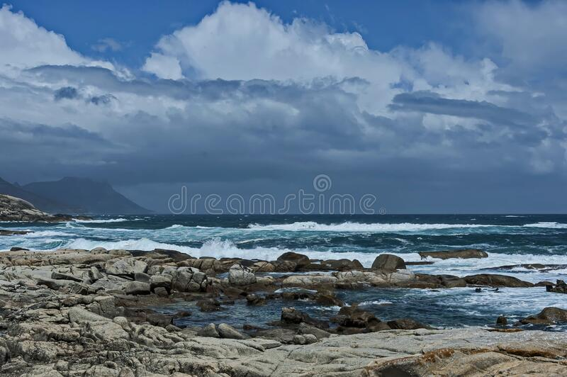 Sea shore on Atlantic oceav by Cape Town stock images