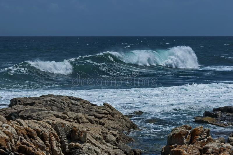 Sea shore on Atlantic oceav by Cape Town royalty free stock photography
