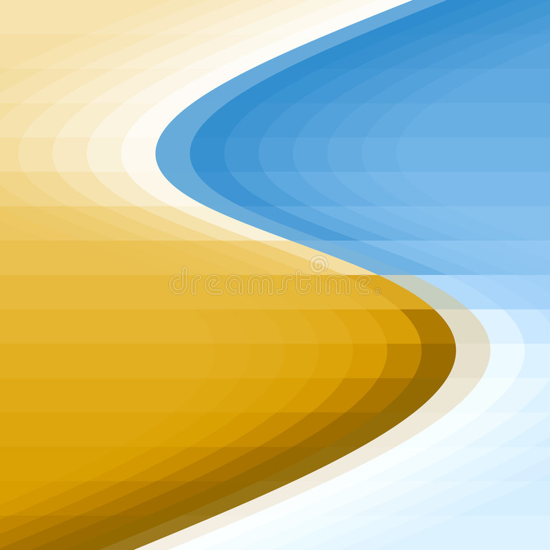 Download Sea shore background stock illustration. Image of curvy - 1411385