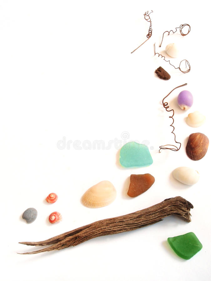 Download Sea Shore Collection Items Frame Border Stock Photo - Image: 24691002