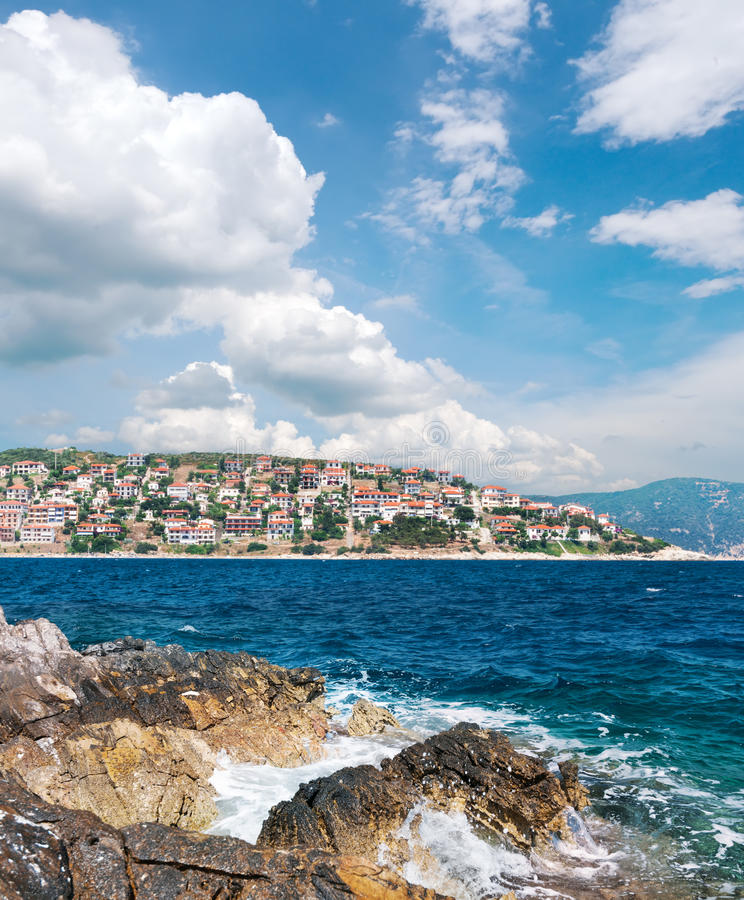 Download Sea Shore  In Northern Greece Stock Image - Image of tourism, greek: 39507091