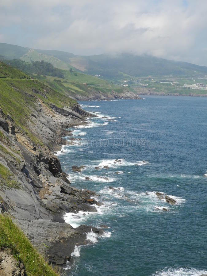 Sea shore of northern Spain stock photography