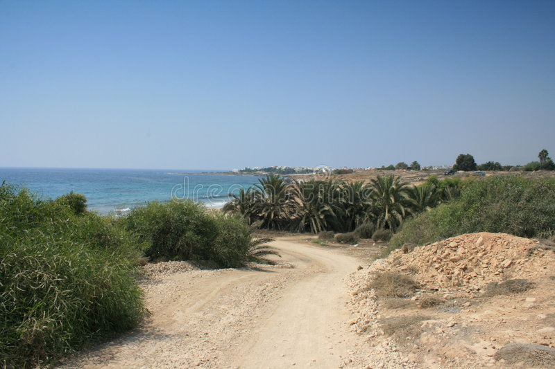 A sea side area in Paphos stock photos