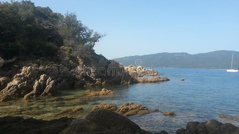 Sea side at Corse royalty free stock photos