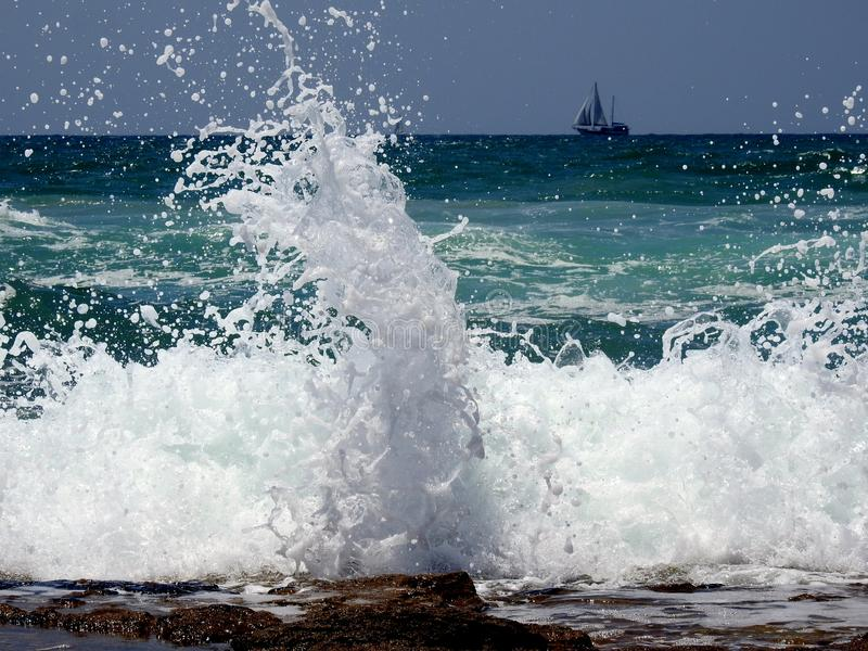 Sea sight in summer royalty free stock images