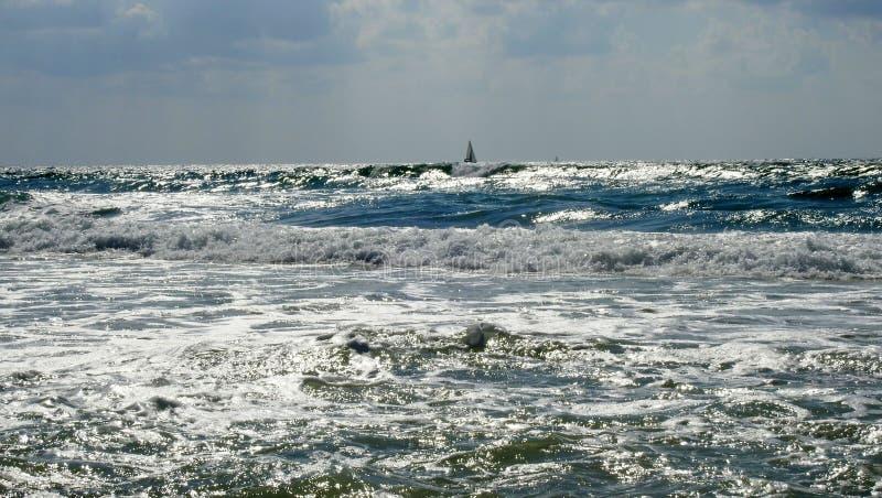 Sea sight in summer stock photo
