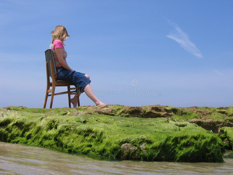 Download Sea Sit stock image. Image of calm, view, weeds, beach - 261517
