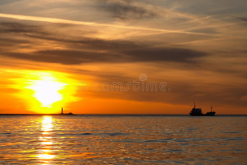 Download Sea sketches stock photo. Image of pier, landscape, lighthouse - 519756