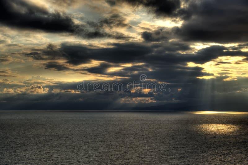 The sea and the sky. Coast of the black sea Crimea, Ukraine stock images