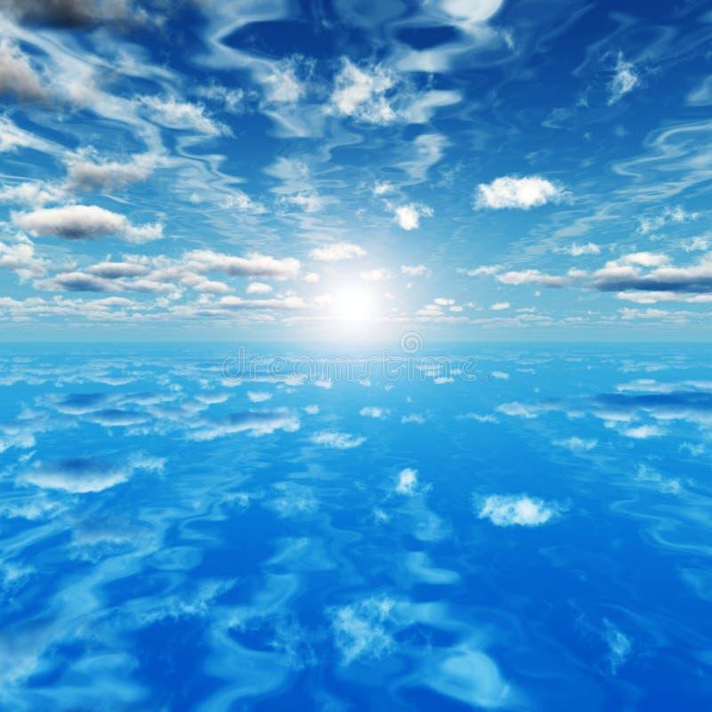 Sea sky royalty free illustration