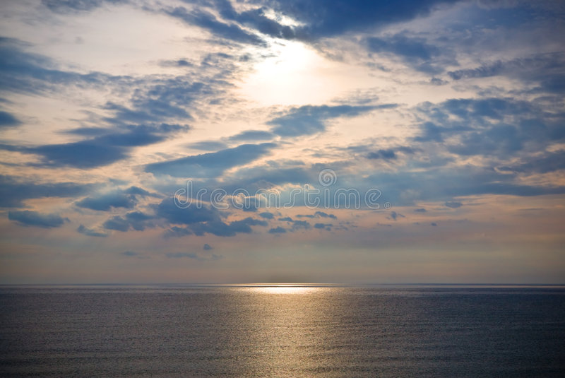 Sea and sky stock photography