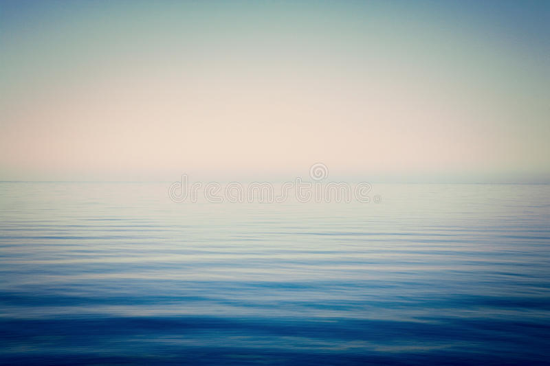 Sea and Sky Background Very Calm. Background of sky and sea, sea is very calm with gentle ripples, instagram effect royalty free stock images