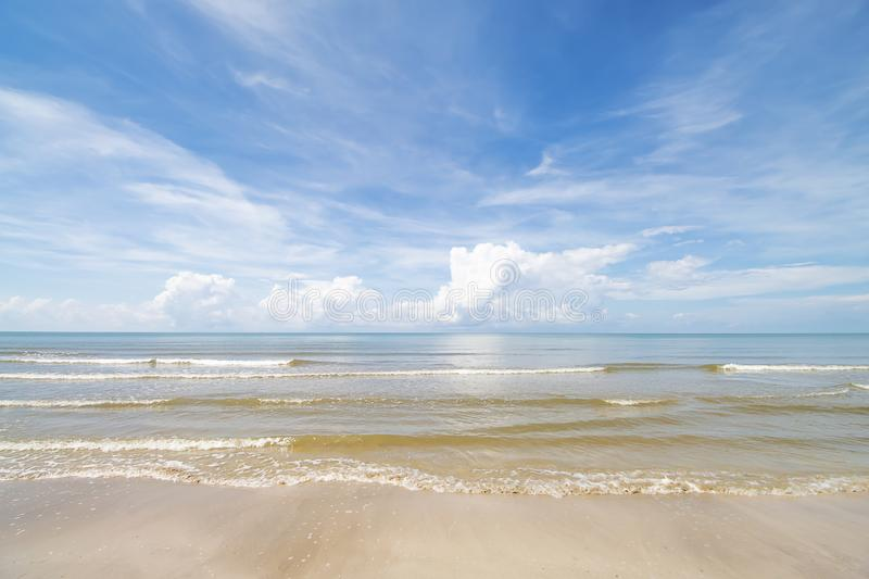 Sea of Sky and beautiful beaches.  royalty free stock photography