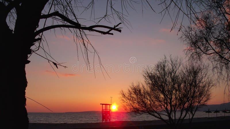 Sunset in Mallorca stock photography