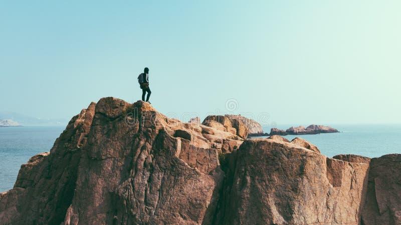 Sea, Sky, Rock, Cliff stock photography