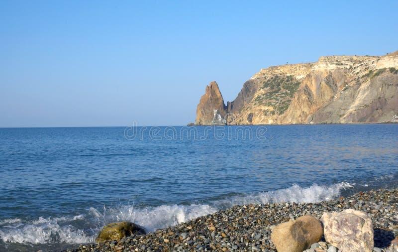Sea, sky and rocks royalty free stock photo