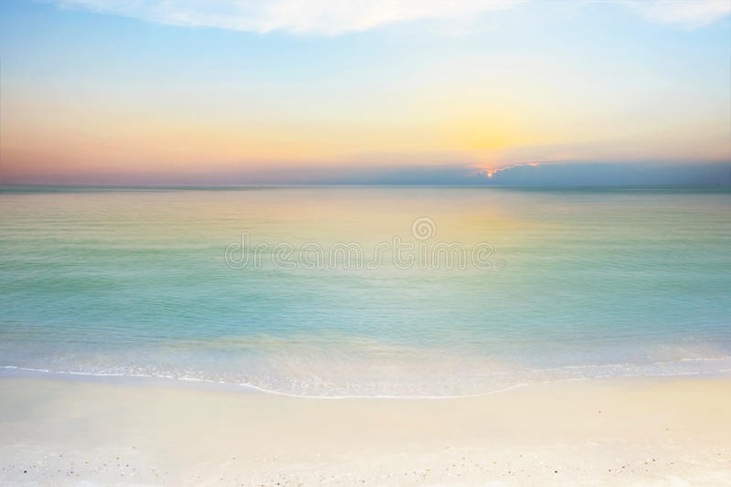 Sea and sky at sunset. stock photo
