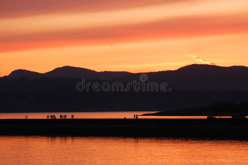Sea and sky in twilight royalty free stock photography