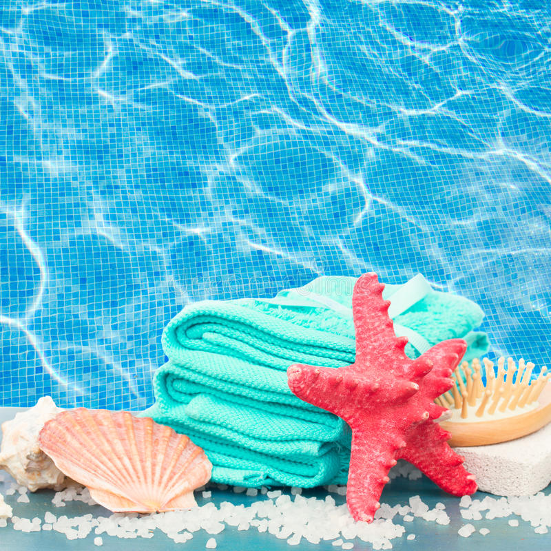Download Sea Spa Setting By Pool Side Stock Image - Image of beach, resort: 39513791