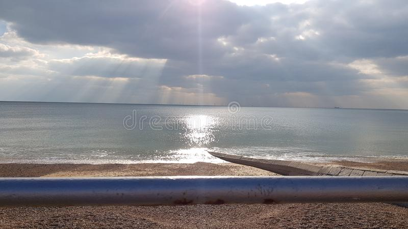 Brighton skies royalty free stock photography