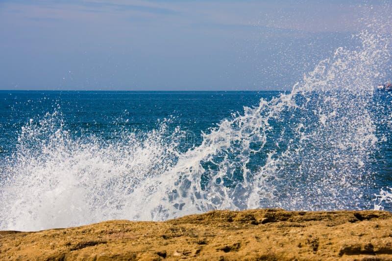 Sea spray stock image