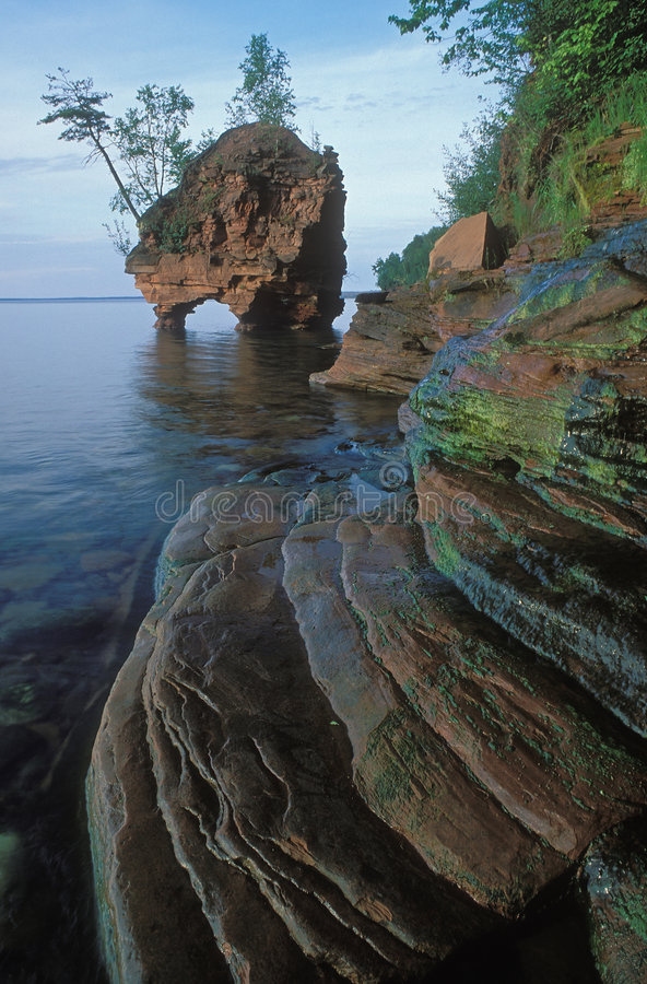 Sea Stack Apostle Islands royalty free stock photo