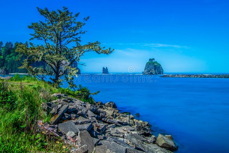 Small Islands Off The NW Coast Of The United States stock image
