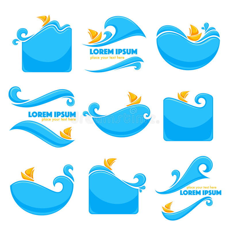 Sea stickers royalty free illustration
