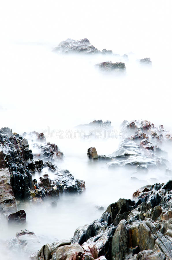 Download Sea stone stock photo. Image of motion, dawn, colorful - 28482094