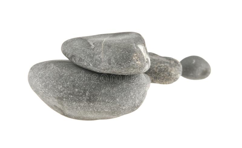 Sea stones isolated on white royalty free stock images