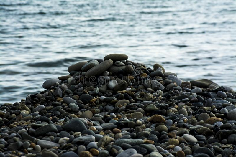 Sea stones, pebbles royalty free stock photography