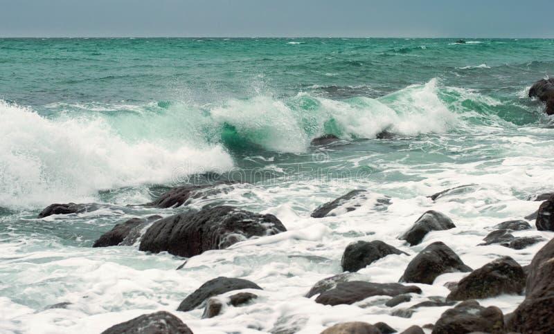 Download Sea storm stock photo. Image of landscape, stone, scene - 21704896