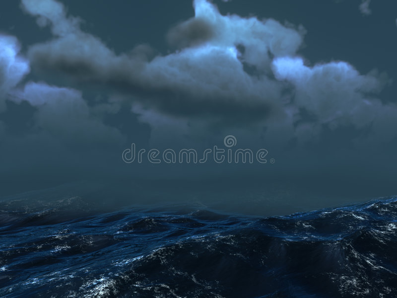 Sea Storm royalty free stock image