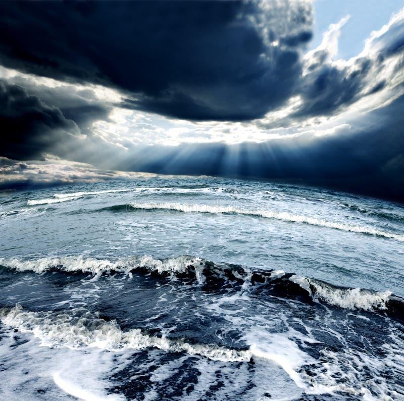 Sea storm royalty free stock photos