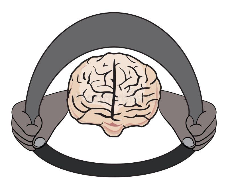 Sea su propia ilustración de la psicología del programa piloto stock de ilustración