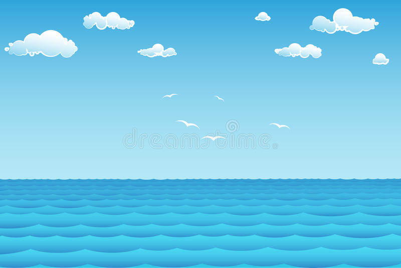 sea in summer day vector illustration