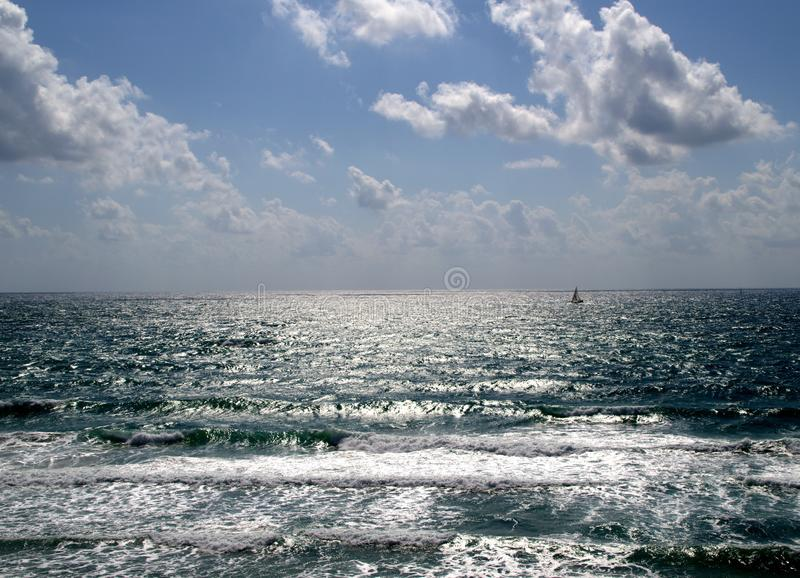 Sea in summer stock image