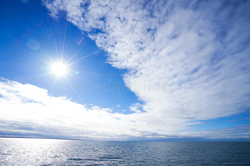 Sea Sun Sky royalty free stock photo