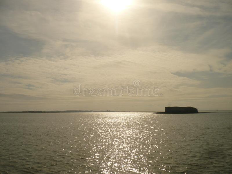 Sea, sunny landscape royalty free stock photos