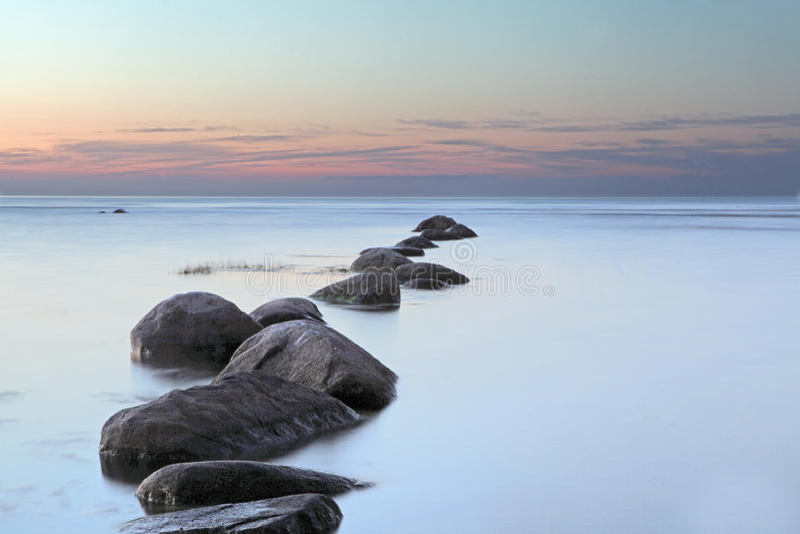 Sea sunrise in Baltic sea at Latvia royalty free stock photos