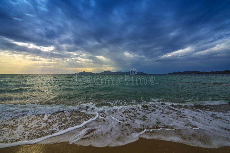 Download Sea and sunrise stock photo. Image of dark, cloud, coast - 31468198