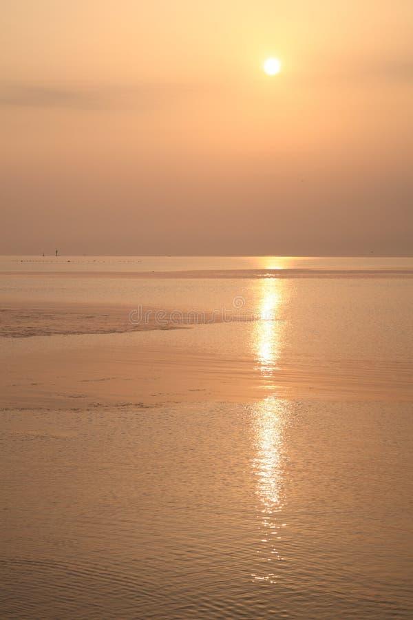 Download Sea sunrise of Toyama Bay stock photo. Image of light - 30526144