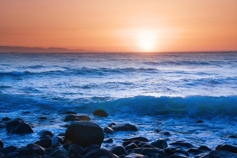 Download Sea At Sunset Stock Images - Image: 17863824