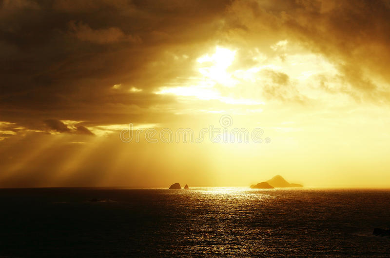 Sea sunset. Beautiful sea sunset, excellent scenery picture material royalty free stock images