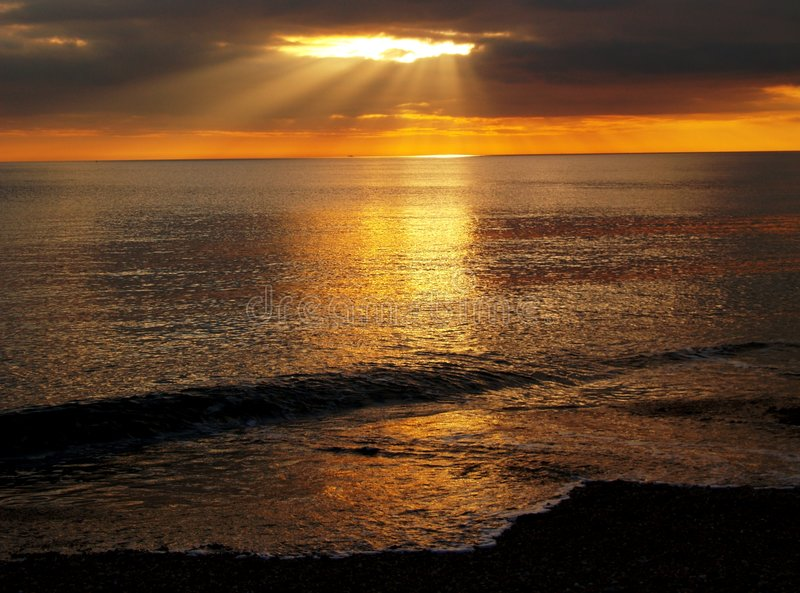 Download Sea Sunset stock image. Image of landscape, dream, dramatic - 4105887
