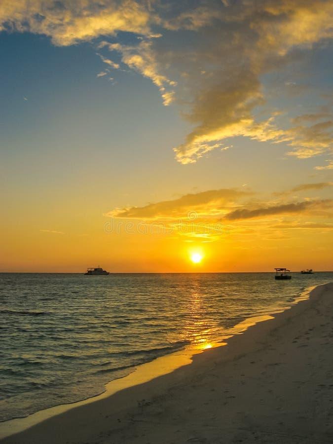 Sea sunset background royalty free stock photos