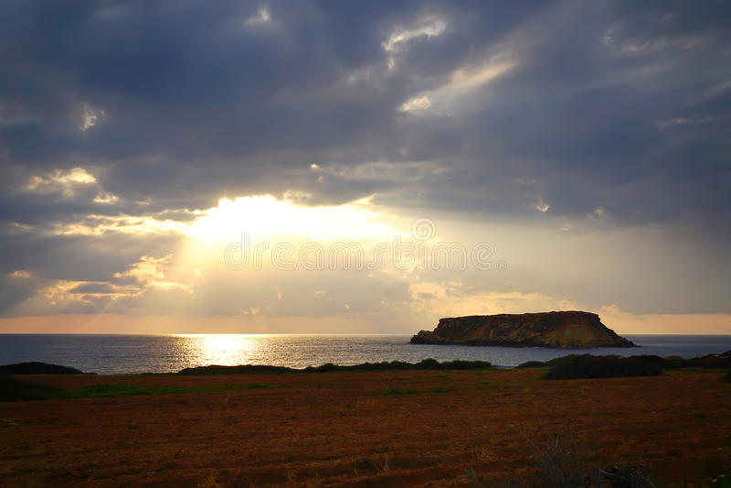 Sea Sunset royalty free stock photography